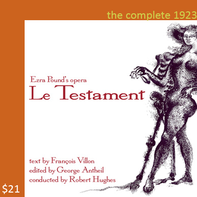 audio CD Ezra Pound's 1923 Le Testament