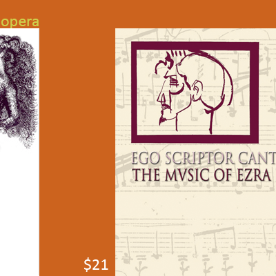audio CD Ego Scriptor Cantilenae The Music of Ezra Pound