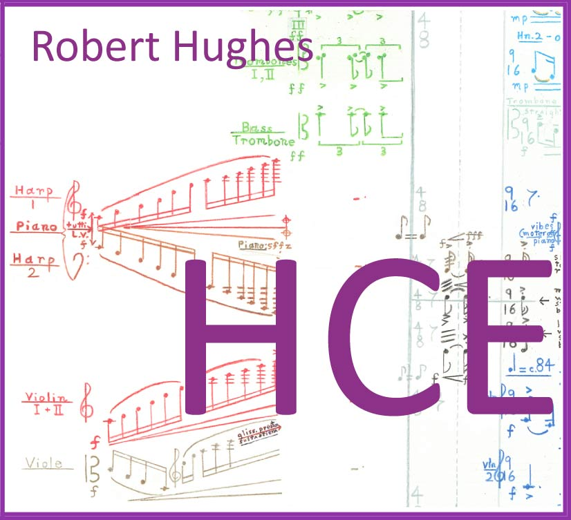 HCE audio CD works for voice and orchestra by Robert Hughes