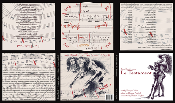 Ezras Pound's first opera 'LeTestament' packaging 6-panel digipak design audioCD Second Evening Art SEA LT1923